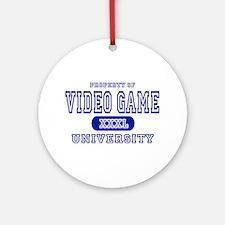 Video Game University Ornament (Round)