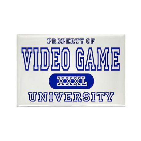 Video Game University Rectangle Magnet