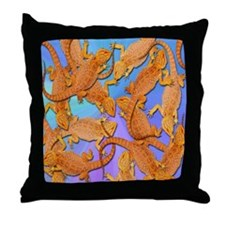 Bunches of Beardies Throw Pillow
