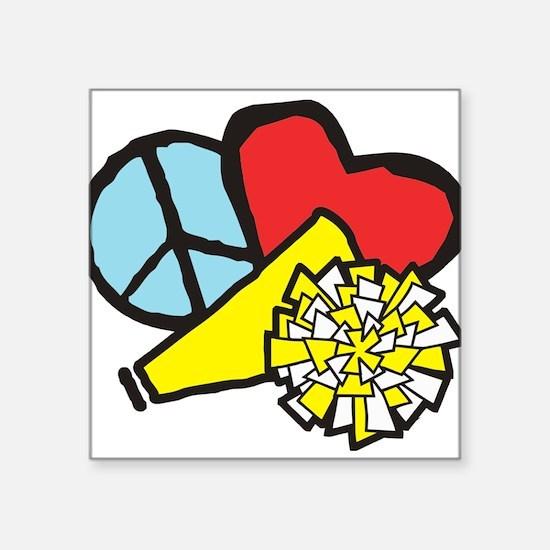 Peace, Love, Cheer Sticker