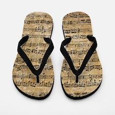 Funny Music notes Flip Flops