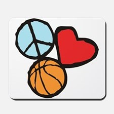 Peace, Love, Basketball Mousepad