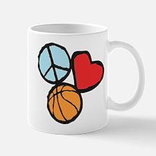 Peace, Love, Basketball Mug
