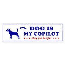 DOG is My Copilot - BEAGLE Bumper Bumper Sticker