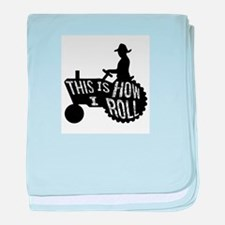 This is How I Roll Tractor baby blanket