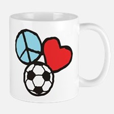 Peace, Love, Soccer Mug