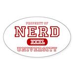Nerd University Oval Sticker