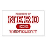 Nerd University Rectangle Sticker