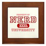 Nerd University Framed Tile