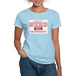 Nerd University Women's Pink T-Shirt