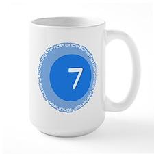 Seven 7 Virtues Number Design Mug