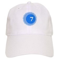 Seven 7 Virtues Number Design Baseball Baseball Cap