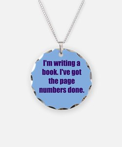 Writing a Book Necklace