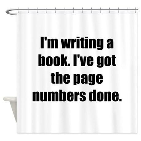 Writing a Book Shower Curtain