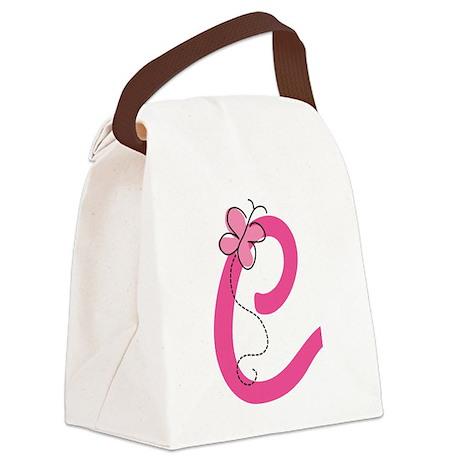 Letter C Monogram Canvas Lunch Bag