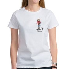 T-Shirt - Pearl would rather be knitting