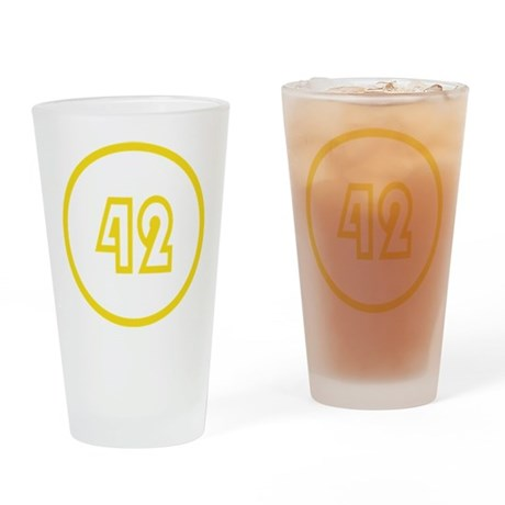 Fourty Two 42 Modern Everything Drinking Glass
