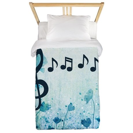 Music notes twin duvet by tacetdesign - Music notes comforter ...
