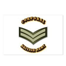 UK - Army - Corporal Postcards (Package of 8)