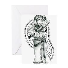 Tribaret Dancer Greeting Card