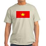 Vietnam Vietnamese Blank Flag Ash Grey T-Shirt