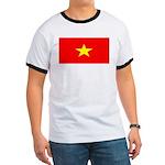 Vietnam Vietnamese Blank Flag Ringer T