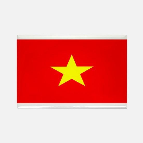 Vietnam Vietnamese Blank Flag Rectangle Magnet