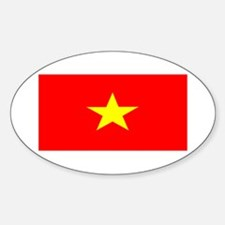 Vietnam Vietnamese Blank Flag Oval Decal