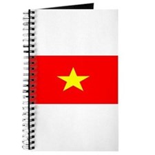Vietnam Vietnamese Blank Flag Journal
