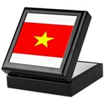 Vietnam Vietnamese Blank Flag Keepsake Box