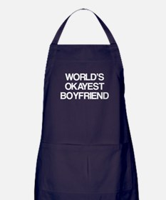 World's Okayest Boyfriend Apron (dark)