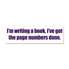 Writing a Book Car Magnet 10 x 3