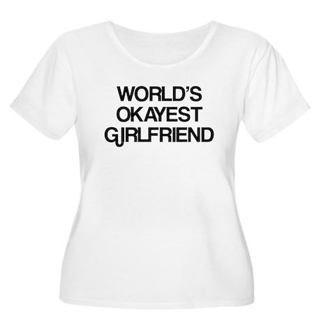 World's Okayest Girlfriend Women's Plus Size Scoop