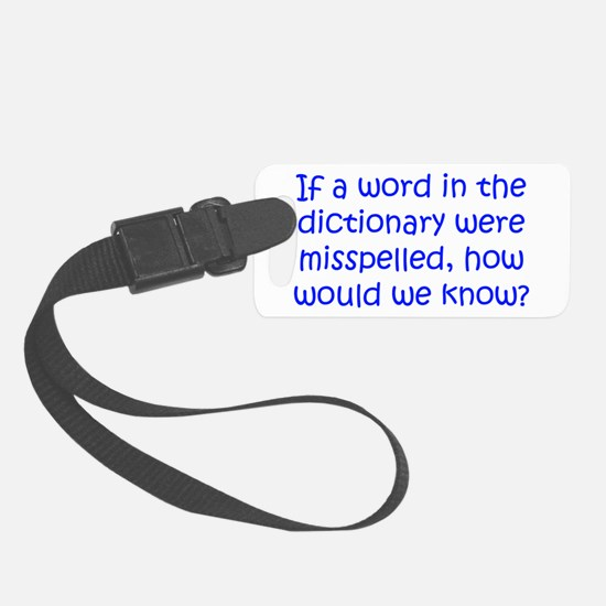Misspelled word in Dictionary Luggage Tag