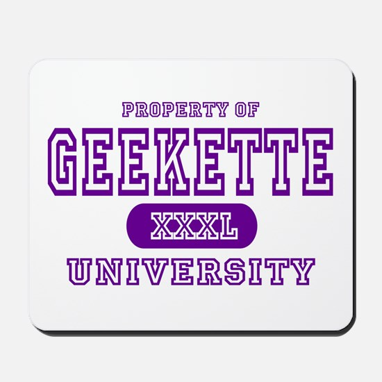 Geekette University Mousepad