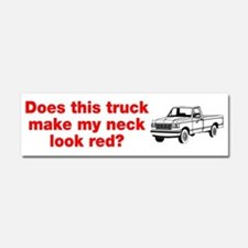 Truck Make Neck Look Red Car Magnet 10 x 3
