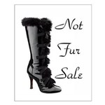 Not Fur Sale Small Poster