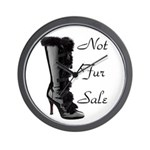 Not Fur Sale Wall Clock