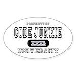 Code Junkie University Oval Sticker