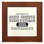 Code Junkie University Framed Tile