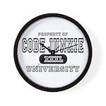 Code Junkie University Wall Clock