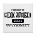 Code Junkie University Tile Coaster