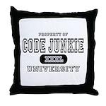 Code Junkie University Throw Pillow