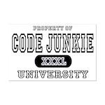 Code Junkie University Mini Poster Print