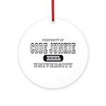 Code Junkie University Ornament (Round)