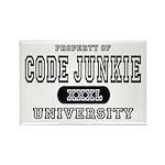 Code Junkie University Rectangle Magnet