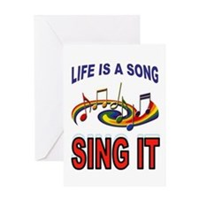 SONG OF LIFE Greeting Card