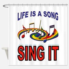SONG OF LIFE Shower Curtain