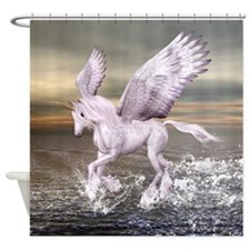 Pegasus-Unicorn Hybrid Shower Curtain