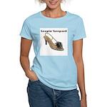 Leapin' Leopard Women's Pink T-Shirt